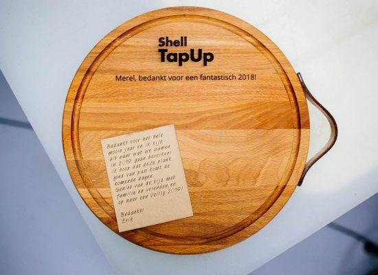 zakelijk bestellen snijplank shell
